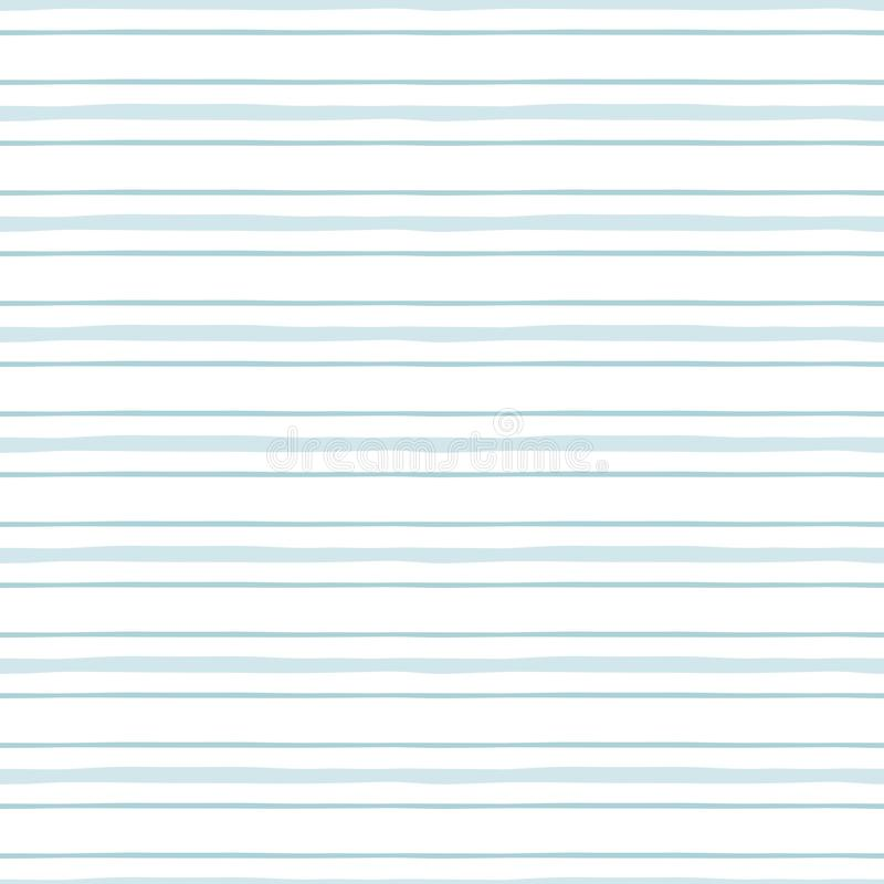 Seamless pattern with light blue stripes Pastel blue lines baby boy geometric horizontal pattern Vector vector illustration