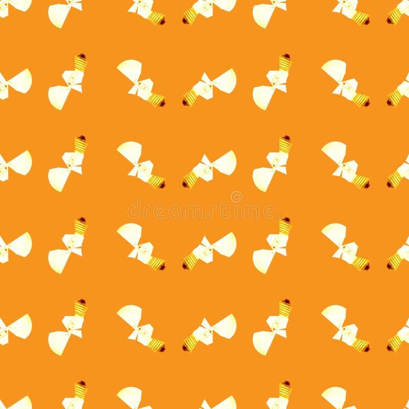 Seamless pattern of light broken bulbs stock illustration