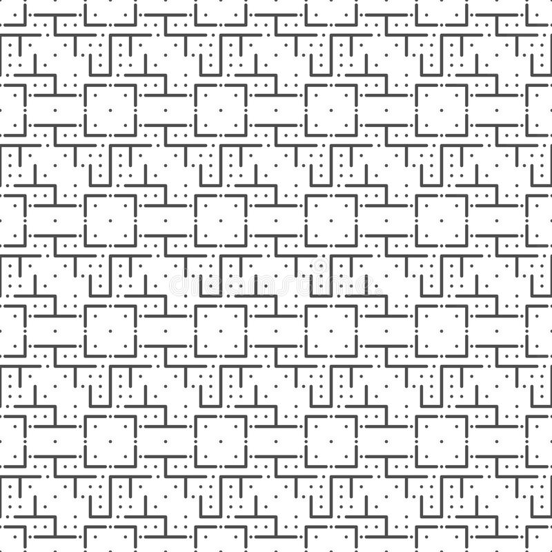 Seamless pattern of lines and dots. vector illustration