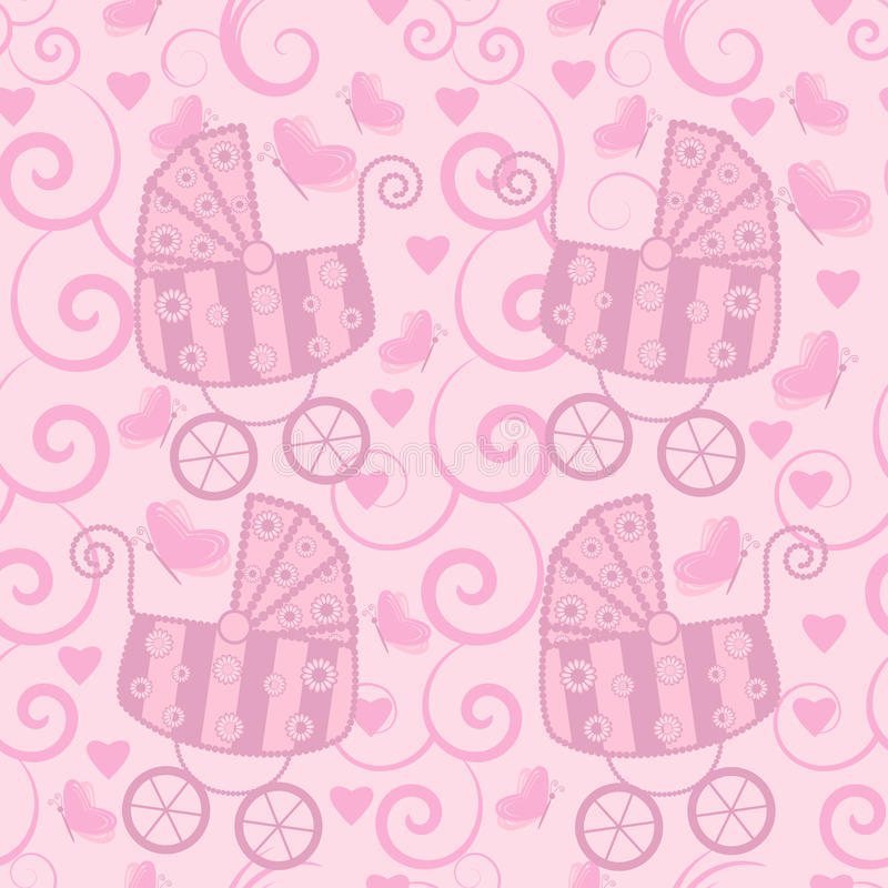 Download Seamless Pattern For Little Girls Stock Vector - Illustration: 18052472