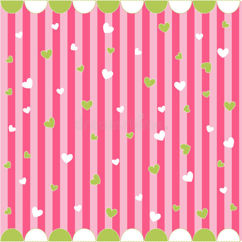 Seamless pattern with little hearts vector illustration