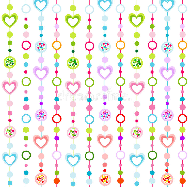 Seamless pattern with little hearts stock illustration