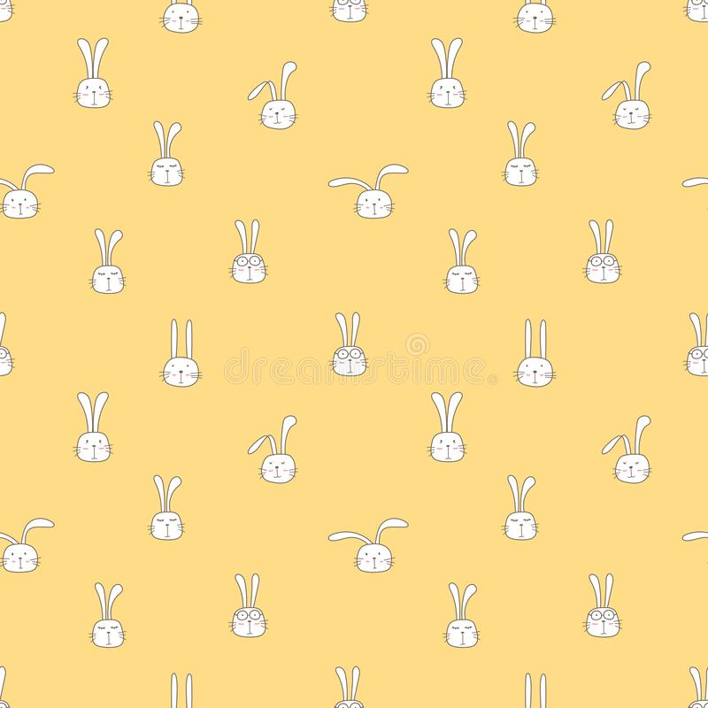 Seamless pattern with lovely bunny background, Cute rabbit art for kids. Seamless pattern with lovely bunny background, Cute rabbit art for kids, Vector vector illustration