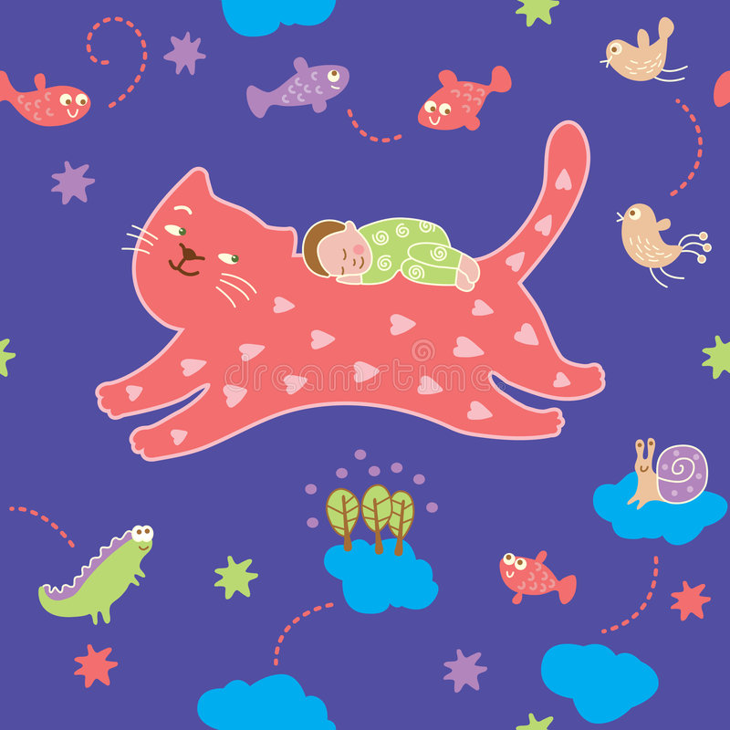 Download Seamless Pattern - Lullaby Royalty Free Stock Image - Image: 9097976
