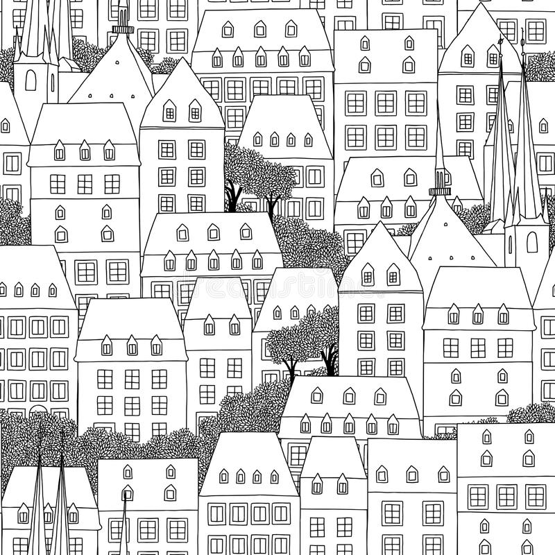 Seamless pattern of Luxembourg royalty free illustration