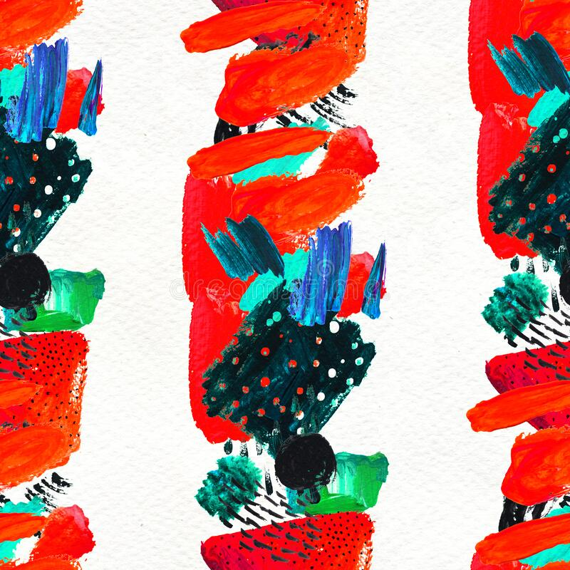 Free Seamless Pattern Made By Hand Drawn Paint Strokes. Royalty Free Stock Image - 215802156