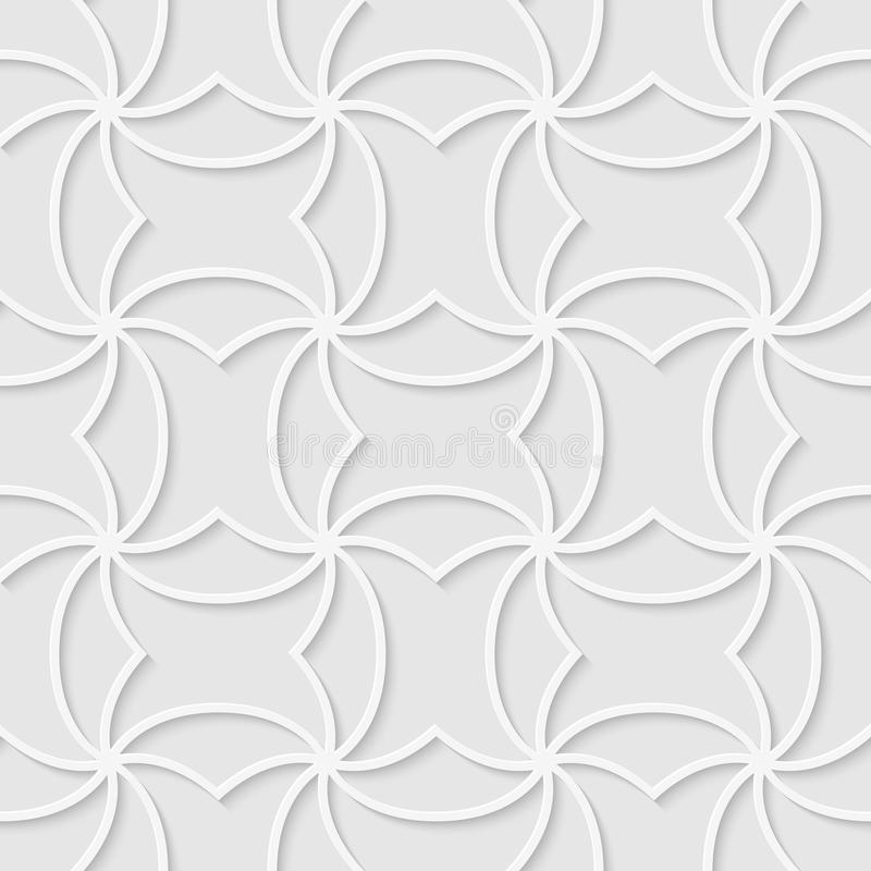 Seamless pattern made of curved lines. Vector illustration. Good quality. Good design royalty free illustration