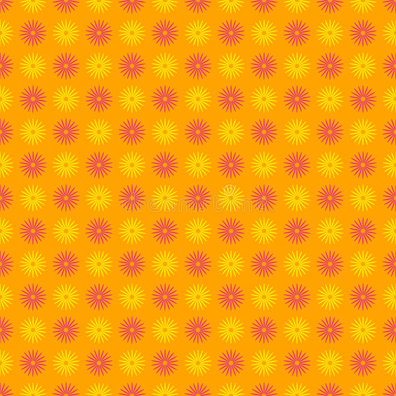 Seamless happy and colorful floral pattern