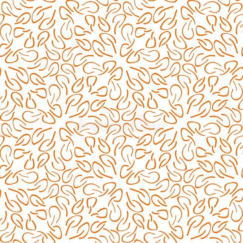 Seamless pattern made of leaves vector illustration