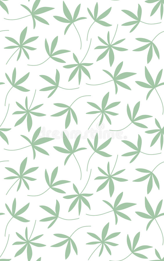 Seamless pattern made of palm leaves royalty free illustration