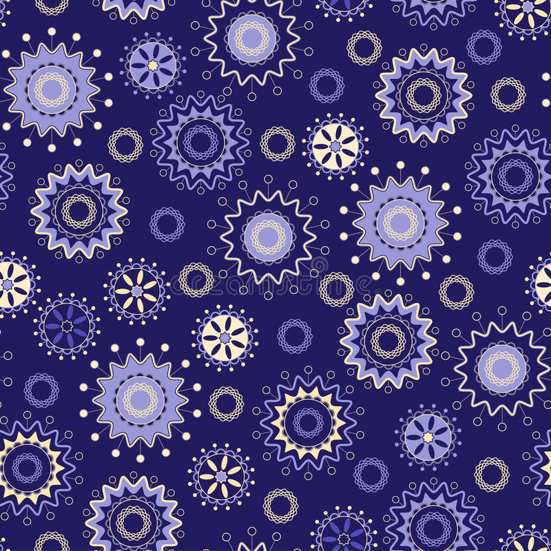 Seamless pattern of magical stars