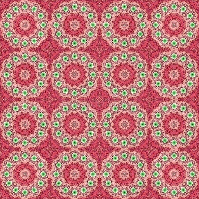 Seamless pattern mandala round graphic ornament stylish background, repeating texture circles. Stylized elements royalty free illustration