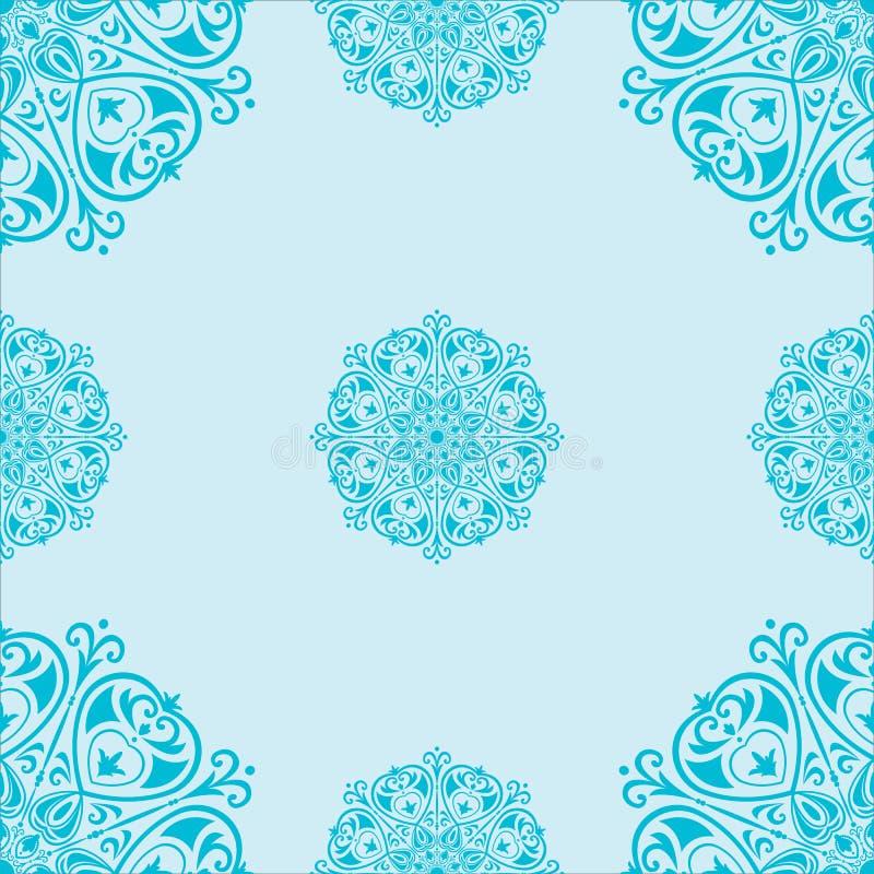 Seamless pattern with mandalas royalty free illustration