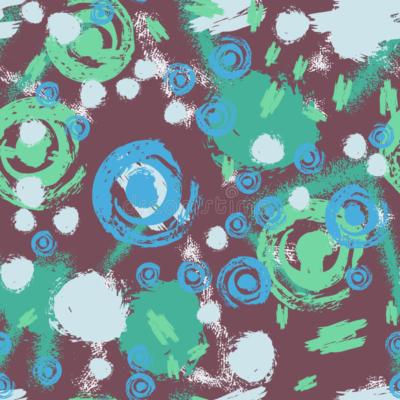 Seamless pattern manual drawing textile and grunge background. royalty free illustration