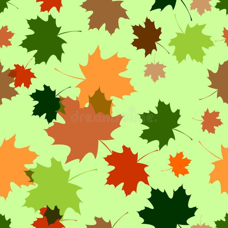 Seamless pattern with maple foliage
