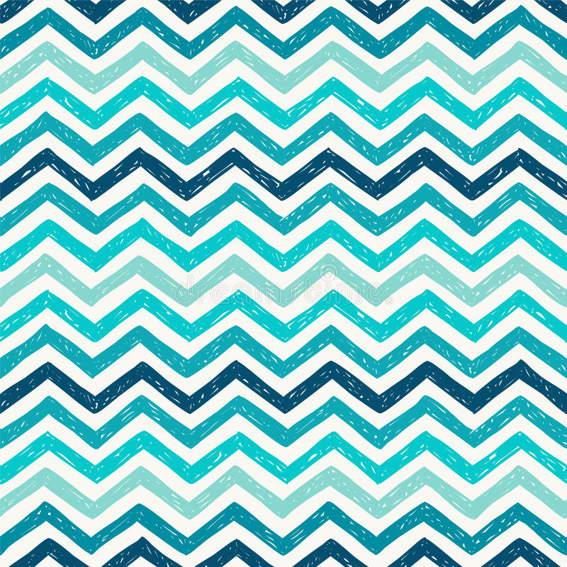 Seamless pattern - marine zigzag stock illustration