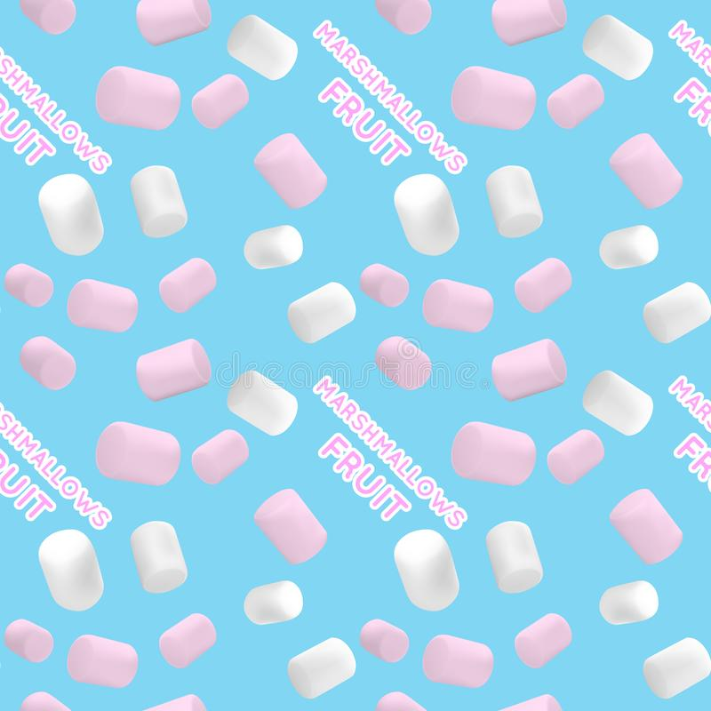 Seamless pattern.Marshmallow white and pink. Pattern of a beautiful marshmallow. Good vector illustration for packing royalty free illustration