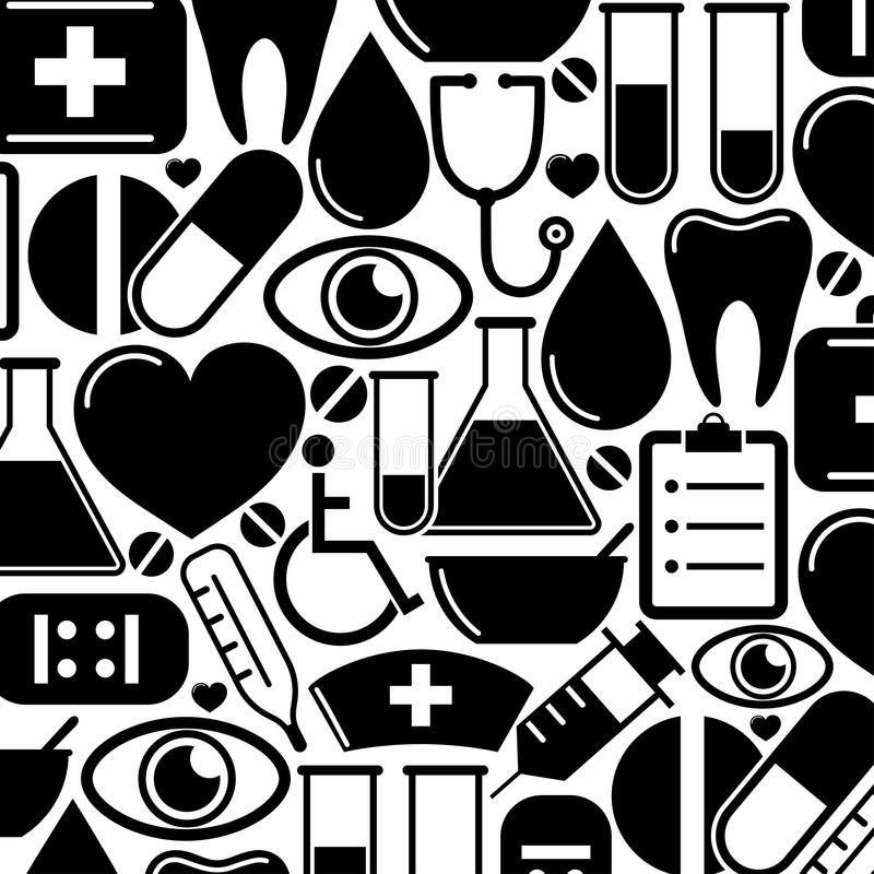 Download Seamless Pattern With Medical Icons Stock Vector - Image: 32231003