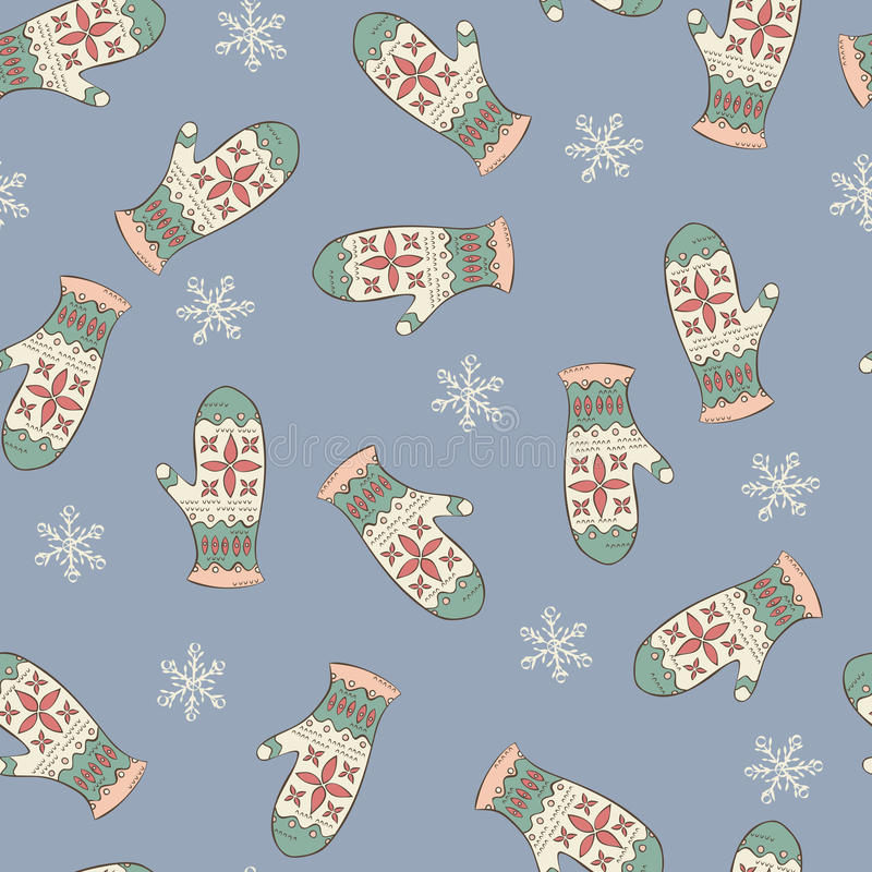 Download Seamless Pattern With Mittens Royalty Free Stock Photo - Image: 28211875