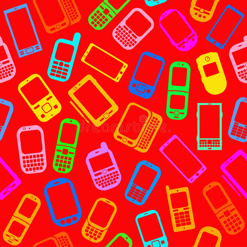 Seamless Pattern with Mobile devices