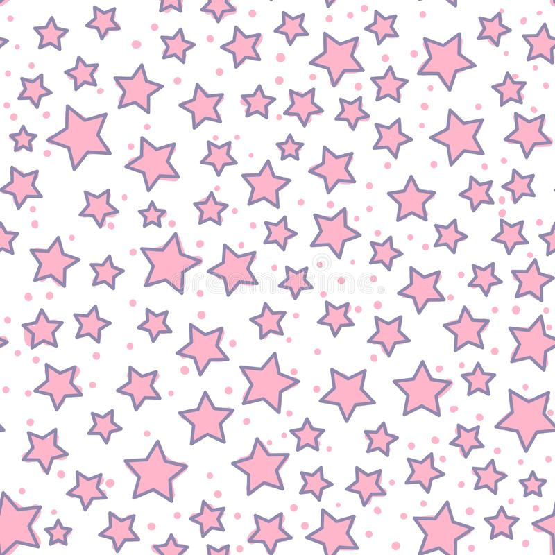 Seamless pattern. Modern Bright design for kids Vector Abstract cute star isolated on a white background. Seamless pattern. Modern Bright design for kids Vector royalty free illustration