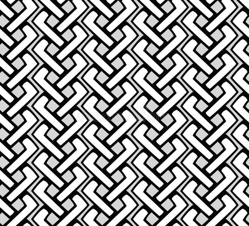Seamless pattern. Modern stylish texture.Geometric tiles royalty free illustration