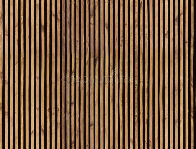 Seamless pattern of wooden slats stock images