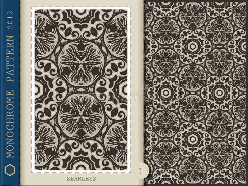 Download Seamless Pattern-monochrome 1 Stock Vector - Illustration of fabric, drawing: 26115074