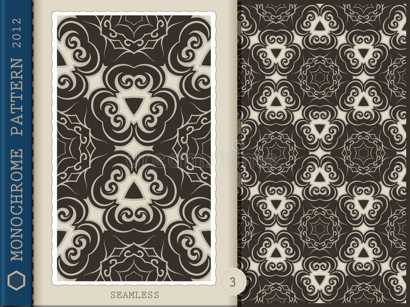 Download Seamless Pattern-monochrome 3 Royalty Free Stock Photos - Image: 26115078