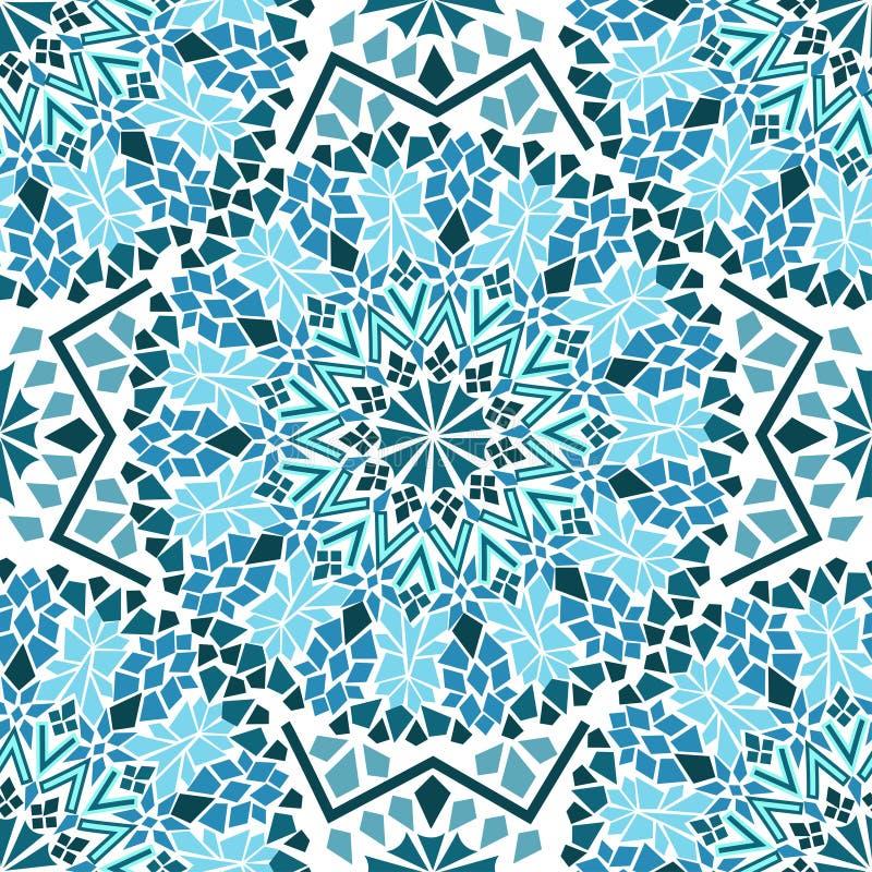 Seamless pattern of Moroccan mosaic stock illustration