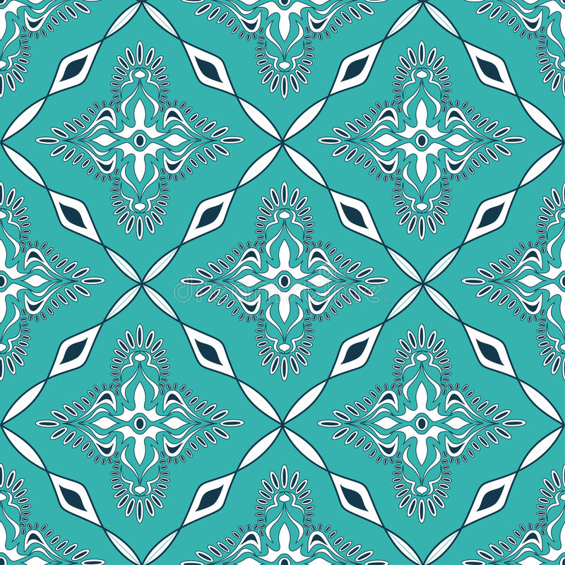 Seamless Pattern Of Moroccan Mosaic Stock Vector