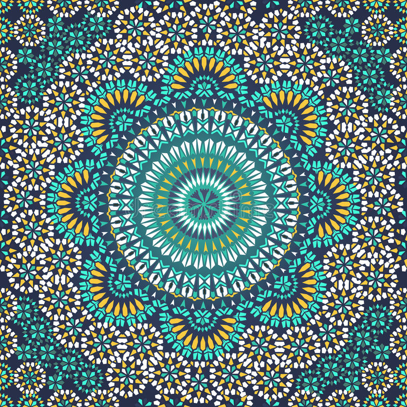 Seamless pattern in mosaic ethnic style. stock illustration