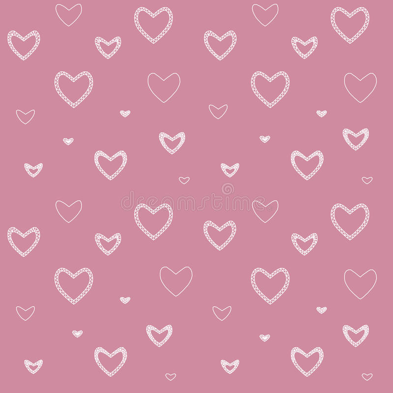 Seamless pattern with mosaic valentine`s hearts. royalty free stock photos