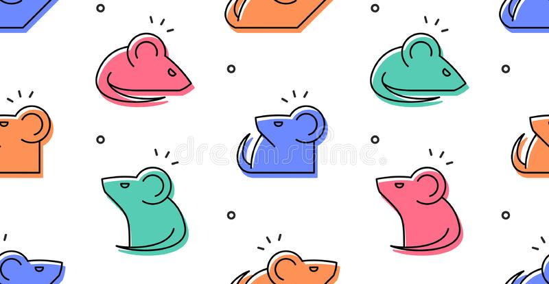 Seamless pattern with Mouses stock illustration