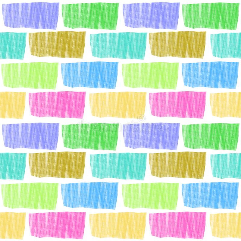 Seamless pattern multicolored brick wall royalty free illustration