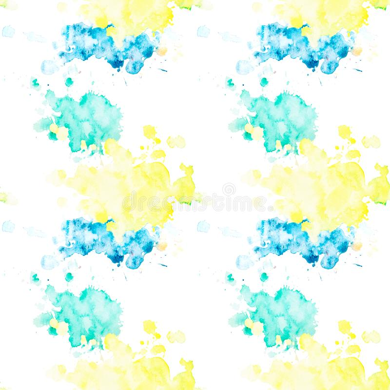 Seamless pattern with multicolored watercolor blots on a white background vector illustration
