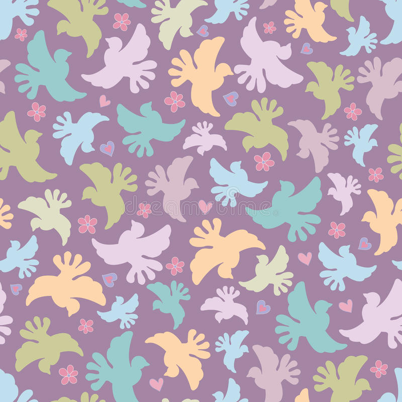Download Seamless Pattern With Multicoloured Birds Stock Vector - Image: 22636297