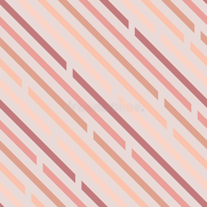Seamless pattern. Oblique lines with spaces, diagonals. Pastel c. Olors. Light background stock illustration