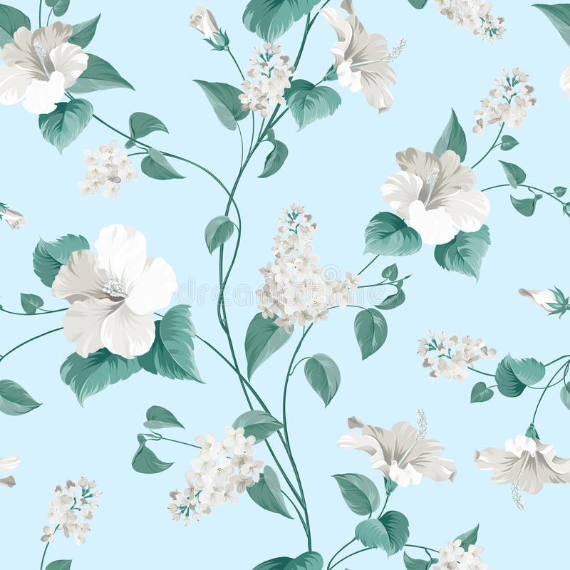 Free Seamless Pattern Of Flowers Royalty Free Stock Photos - 52225978