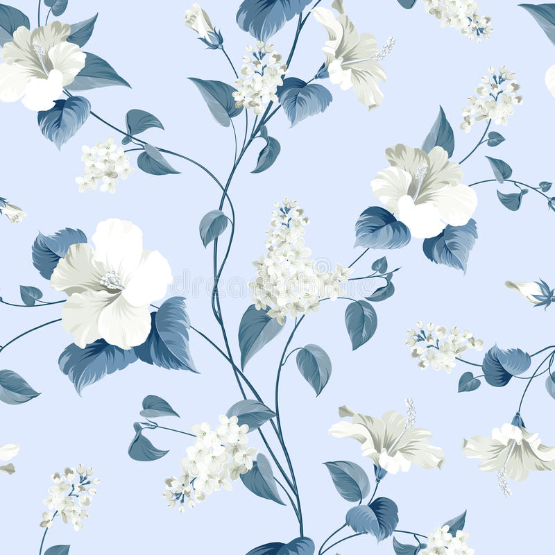 Free Seamless Pattern Of Flowers Royalty Free Stock Photo - 52226005