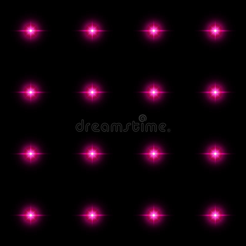 Free Seamless Pattern Of Luminous Stars. Illusion Of Light Flashes. Royalty Free Stock Photo - 61274995