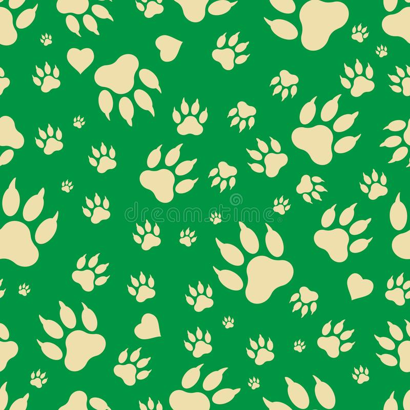 Free Seamless Pattern Of Traces Of Dog`s Paws. Stock Image - 103188441