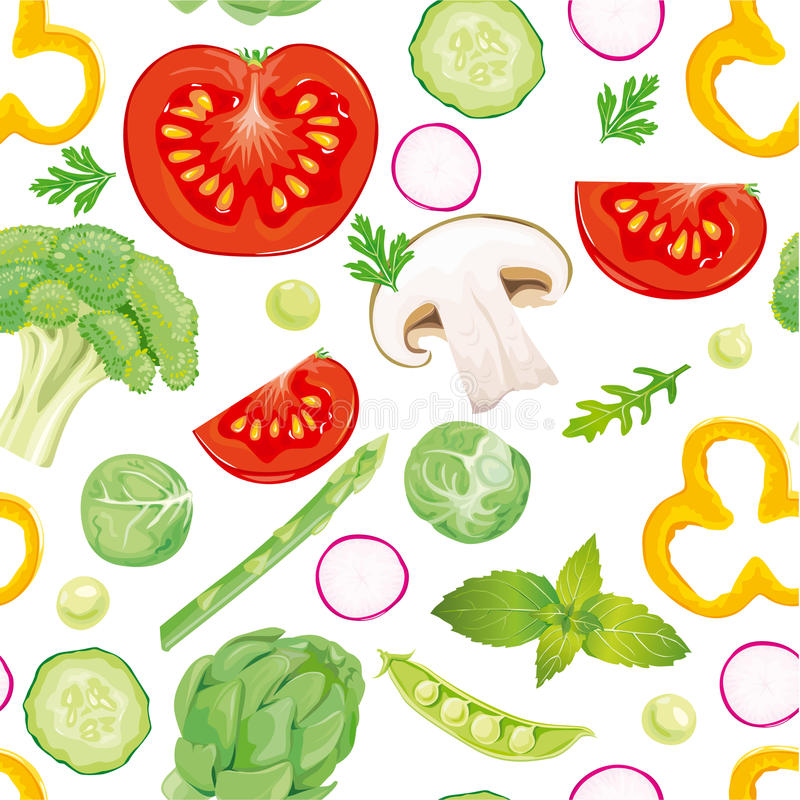 Free Seamless Pattern Of Vegetables Stock Image - 18934601