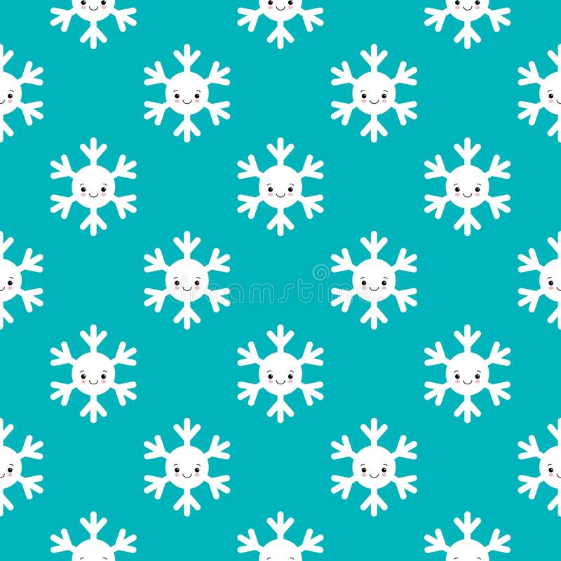Free Seamless Pattern Of Winter Snowflakes, Vector Background. Repeated Texture, Surface, Wrapping Paper. Cute White Snow Royalty Free Stock Photos - 164342688