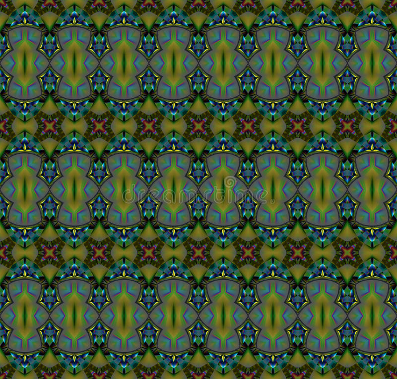 Seamless pattern olive green turquoise purple royalty free illustration