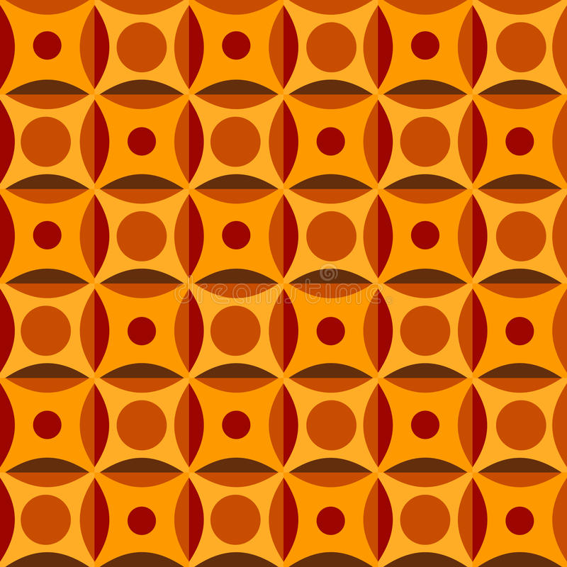 Seamless pattern in orange colors. Geometrical pattern in orange colors, seamless background royalty free illustration