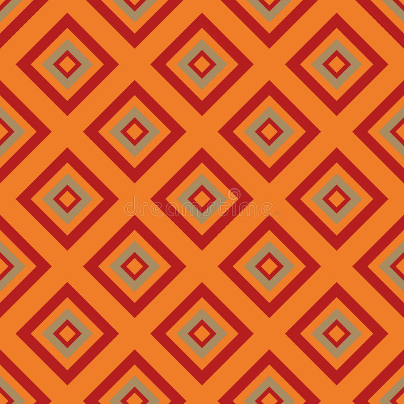 Seamless pattern - orange rombs royalty free stock photo