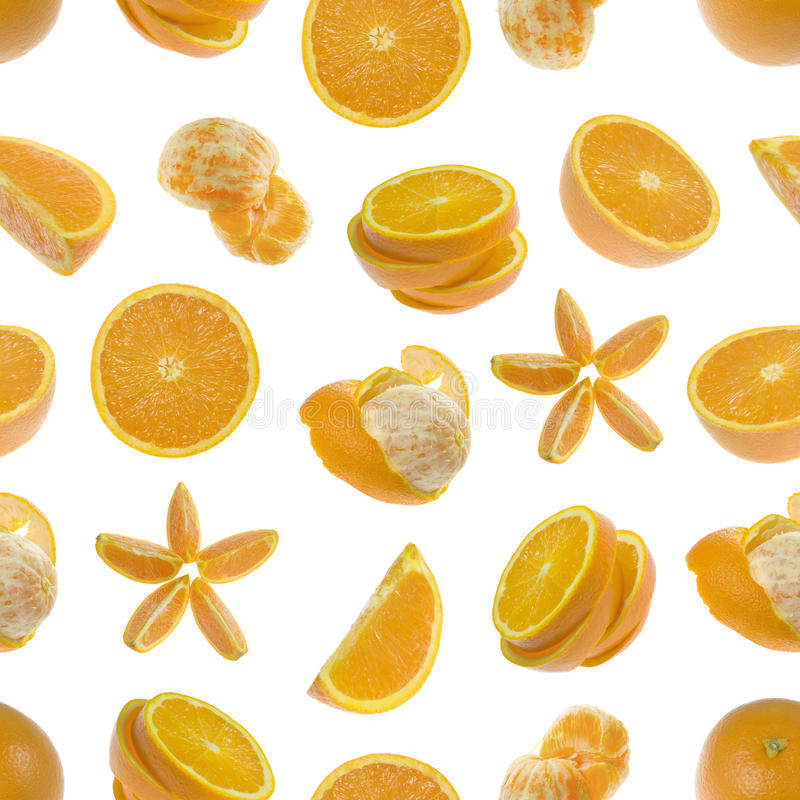 Seamless pattern of oranges royalty free stock images