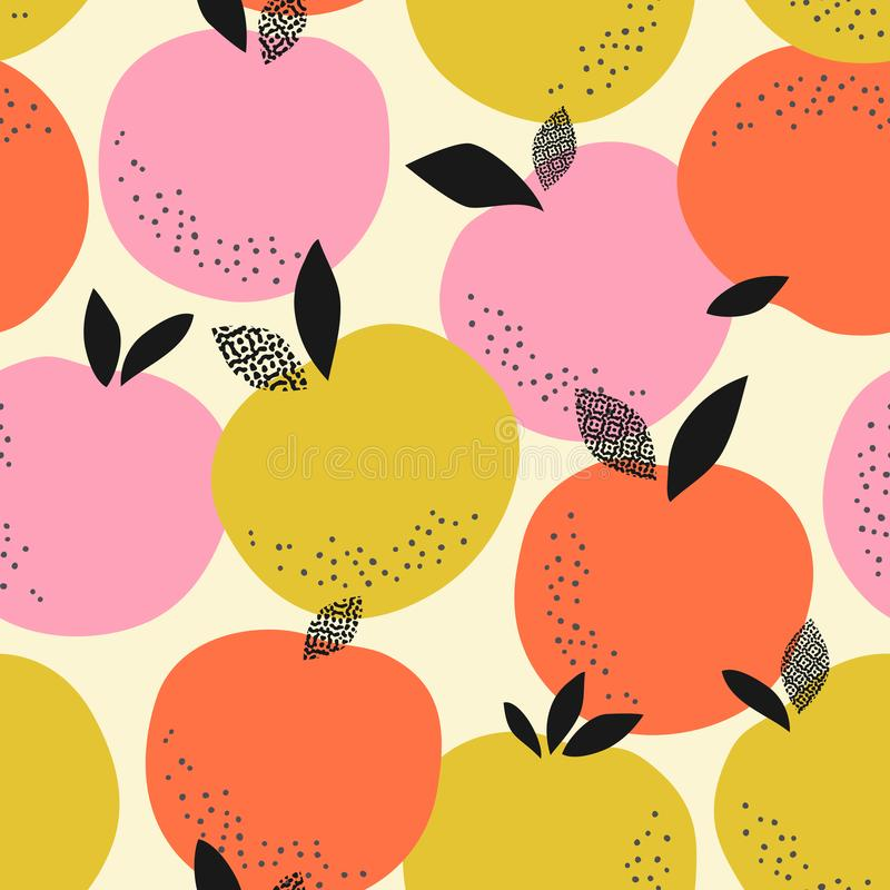 Seamless pattern with oranges royalty free illustration