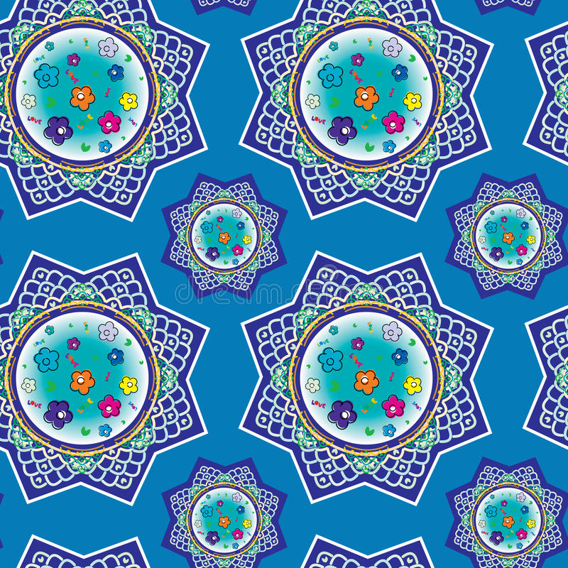 Download Seamless Pattern With Oriental Ornaments Stock Vector - Image: 33943887